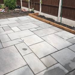 Oakmere Landscaping in Salford install garden paving areas for customers throughout Manchester