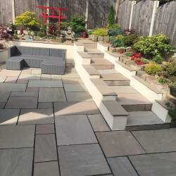 A beautiful patio created by Oakmere Landscaping Ltd in Salford, Greater Manchester