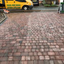 Block driveway installed by Oakmere Landscaping Ltd in Salford
