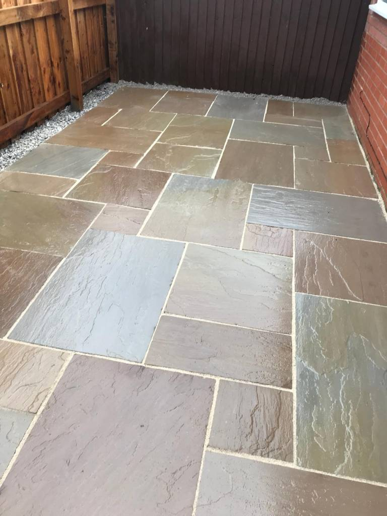 Oakmere Landscaping in Salford install garden paving areas for customers throughout Greater Manchester