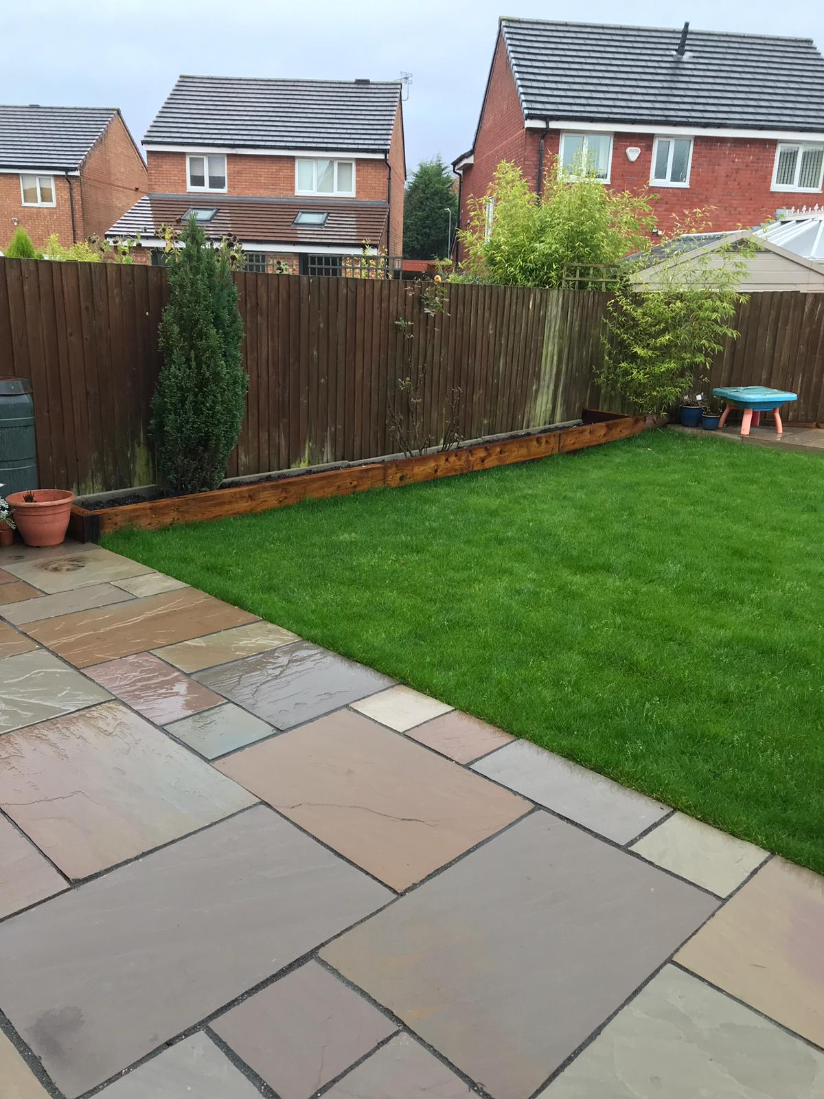 Oakmere Landscaping Install New Indian Raj Stone Patio