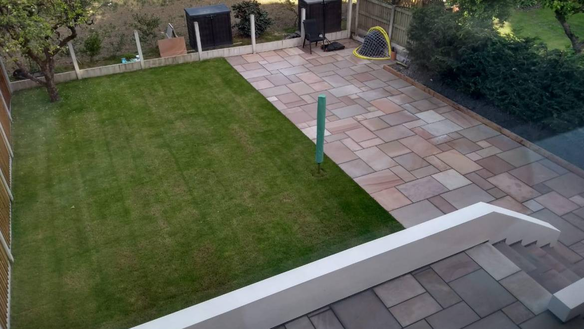 Oakmere Landscaping Complete a New Garden for Client in Salford